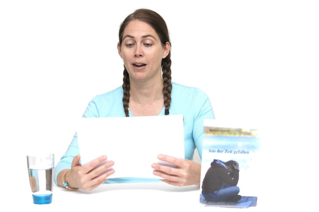 Manuela Letsch bei einer Lesung